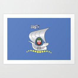 Flag of Kaliningrad  Art Print
