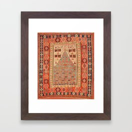 Antique Erzurum Turkish Kilim Rug Print Framed Art Print
