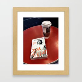 """Scar Tissue"" over Coffee Framed Art Print"