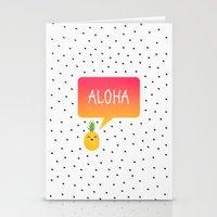 aloha Stationery Cards featuring Aloha by Elisabeth Fredriksson