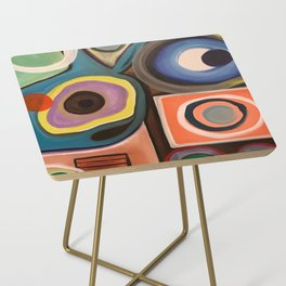 Abstract Painting Side Table