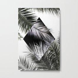 Palm Leaves 3 Geometry Metal Print