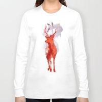 deer Long Sleeve T-shirts featuring Useless Deer by Robert Farkas