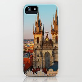 Orange Roofs of Prague iPhone Case