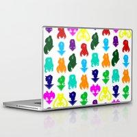 sailormoon Laptop & iPad Skins featuring Sailormoon Senshi pattern by ApocalypseToo Studios