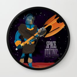 Space Viking (in Space) Wall Clock