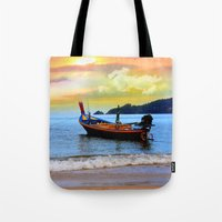 thailand Tote Bags featuring  thailand by mark ashkenazi