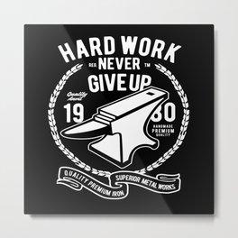 Hard Work Metal Works Advil Farrier Blacksmith Metal Print