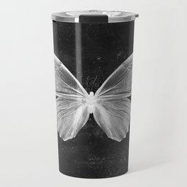 Butterfly in Black Travel Mug