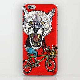 cougar on the prowl iPhone Skin