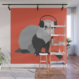 Music Loving Ferret Wall Mural