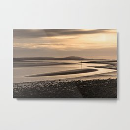 Loughor estuary mudbanks Metal Print