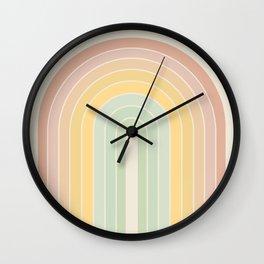 Gradient Arch - Rainbow IV Wall Clock