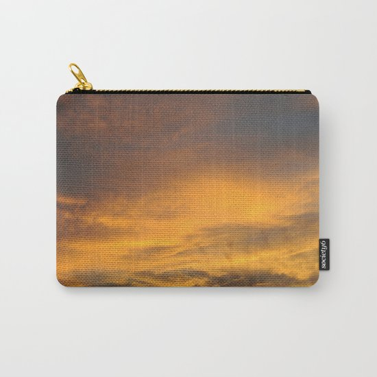 COME AWAY WITH ME - Autumn Sunset #2 #art #society6 Carry-All Pouch