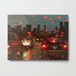 Tuesday Night Rain Metal Print