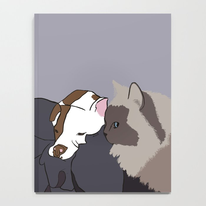 A Pit Bull and Her Kitty Notebook
