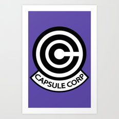 Capsule Corp. Art Print