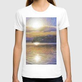 Sun Rising Over Lake - Art Edit T-shirt