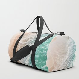 Soft Emerald Beige Ocean Dream Waves #1 #water #decor #art #society6 Duffle Bag