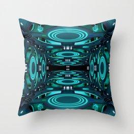 Futuristic illustration on the space theme. Throw Pillow