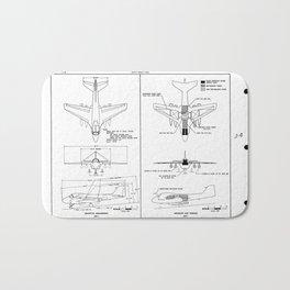 Grumman A2F-1 / A-6 Intruder Schematic Bath Mat