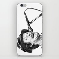 robin williams iPhone & iPod Skins featuring williams by BzPortraits