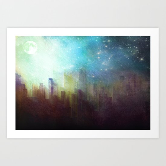 Sad city Art Print