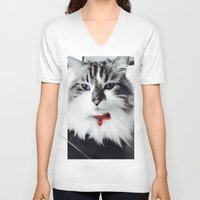 kiki V-neck T-shirts featuring Mr. Kiki by  Naartjie Photography