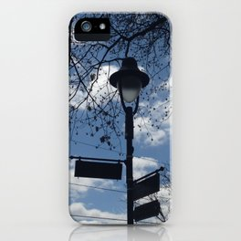 Maplewood - Sign post - blue sky iPhone Case