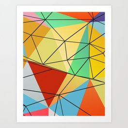 Nouveau Geometric II Art Print