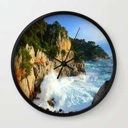 Winter Storm at Cap Ferrat Wall Clock