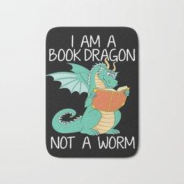 I Am A Book Dragon Not A Bookworm Reading Girls Teacher Tee Shirt Book Lovers And Librarians Gifts Bath Mat