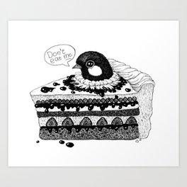birdie baked in a pie Art Print