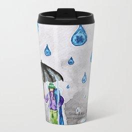 Raining Snow by Ama Hartman  Metal Travel Mug