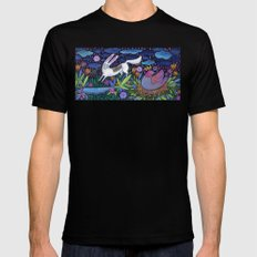 Frolic in the Forest Mens Fitted Tee Black MEDIUM