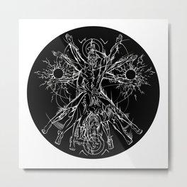 Vetruvian Coupling Invert Metal Print