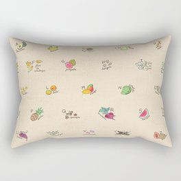 Las Frutas y Verduras de Latinoamerica Rectangular Pillow