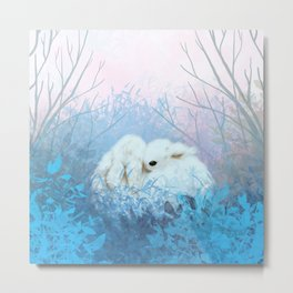 Baby Bun Buns at Dusk Metal Print