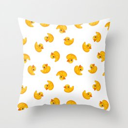Rubber duck toy Throw Pillow