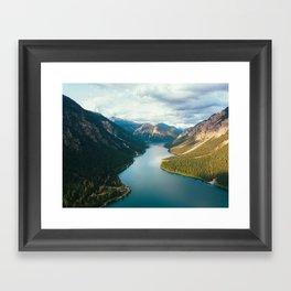 River through mountain Framed Art Print