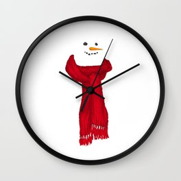 The Invisible Snowman Wall Clock