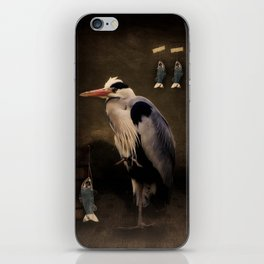 Heron's home iPhone Skin