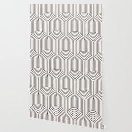 Art Deco Arch Pattern IX - Black & White II Wallpaper