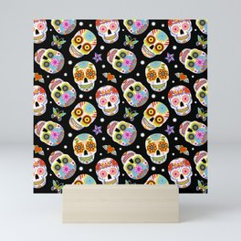 Day Of The Dead Pattern | Dia De Los Muertos Skull Mini Art Print