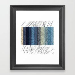 Blues Arrangement Framed Art Print