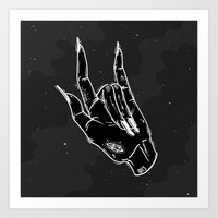 loll3 Art Prints featuring Idle Hand by lOll3