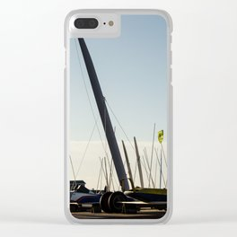 Sailboats Chars à voile Clear iPhone Case