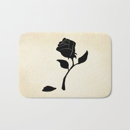 Silhouetted Rose Bath Mat