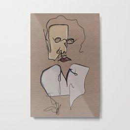 Chaos Portrait As A Picasso Confection Metal Print