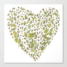 Nature heart Canvas Print
